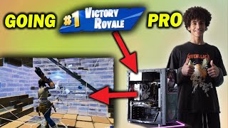 Making Him Go PRO in Fortnite - Upgrading a Gaming PC for the BEST FPS