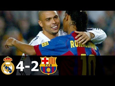 Real Madrid vs FC Barcelona 4-2 All Goals and Highlights with English Commentary 2004-05 HD 720p