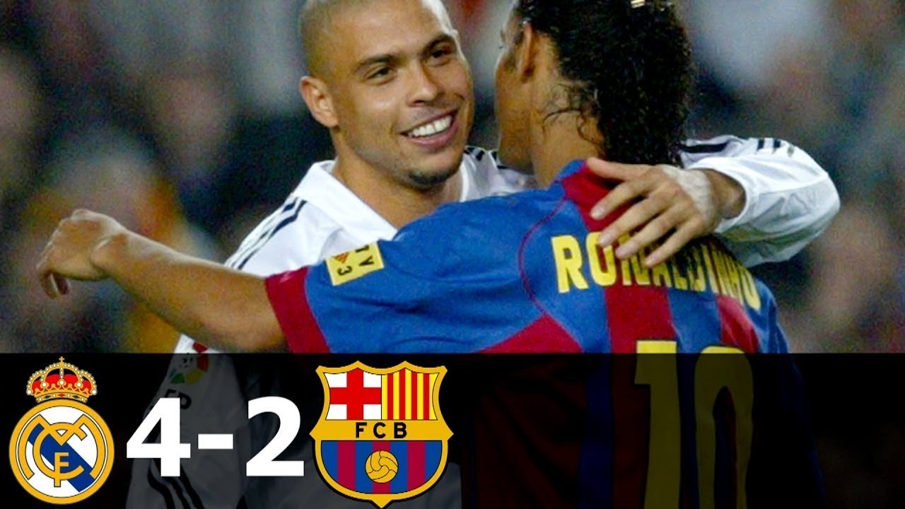 Download Real Madrid vs FC Barcelona 4-2 All Goals and Highlights with English Commentary 2004-05 HD 720p