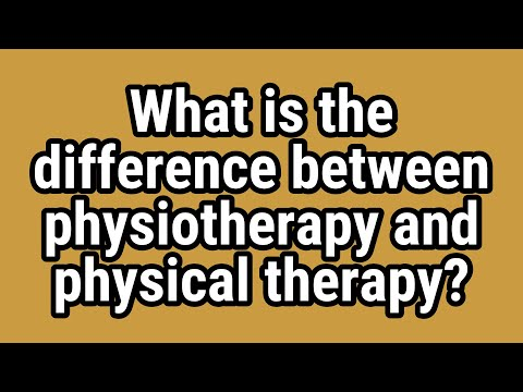 What Is The Difference Between Physiotherapy And Physical Therapy Youtube