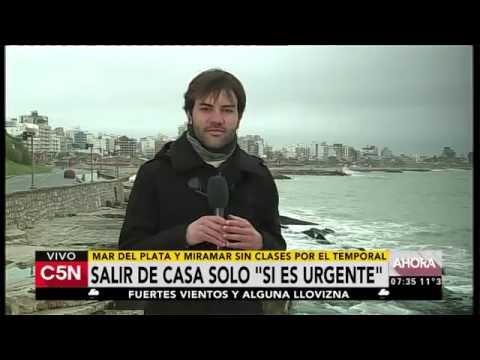 C5N - El Tiempo: Alerta por vientos fuertes en Mar del Plata