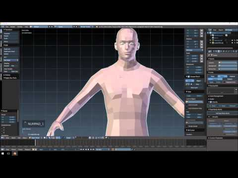 how to make a movable character in blender