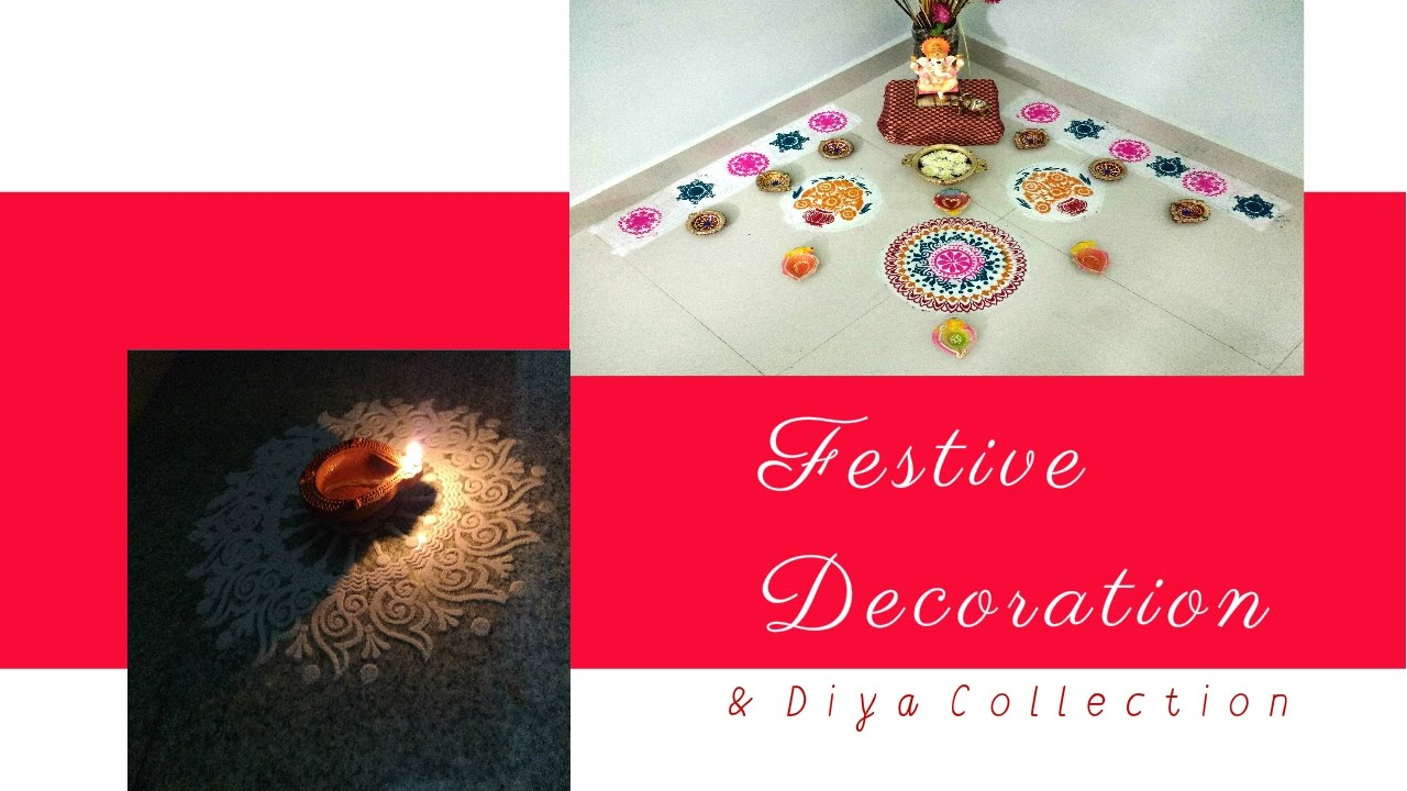Diwali decoration ideas diy diwali diya decoration for Diya decoration youtube