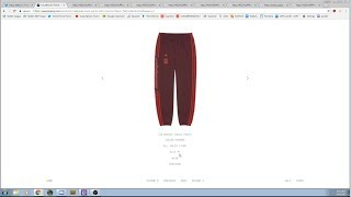 Maroon Yeezy Calabasas Track Pants Live Cop on YS