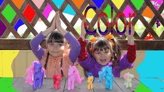 Learn Colors Nursery Rhyme Songs Kids Учим  Английский Язык С Литл Пони