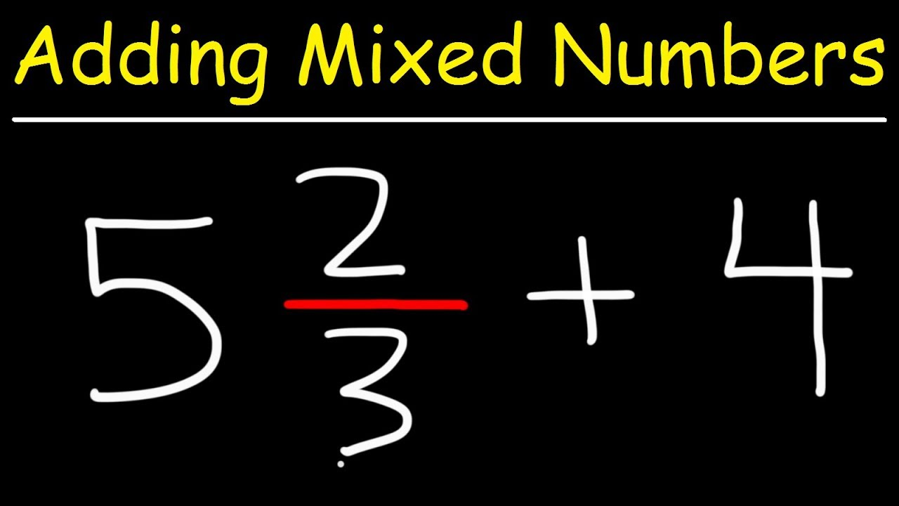 how to add mixed number to whole number