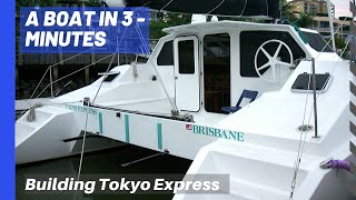 Catamaran you can live aboard - boat building timeline