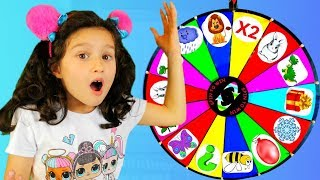Funny story by Alice and TOYS  // Magic wheel and stories for kids