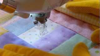 How to Machine Applique Baby Quilt Part 6