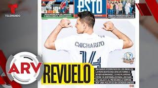 Chicharito Hernández llega a Los Ángeles como nuevo jugador del LA Galaxy | Al Rojo Vivo | Telemundo