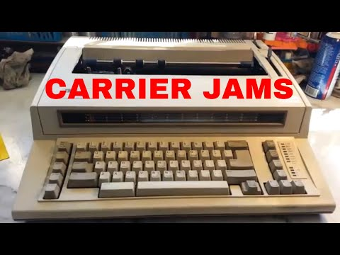 IBM Wheelwriter Typewriter Repair Fix Carriage Carrier Sticks Margins Reset Makes Noise