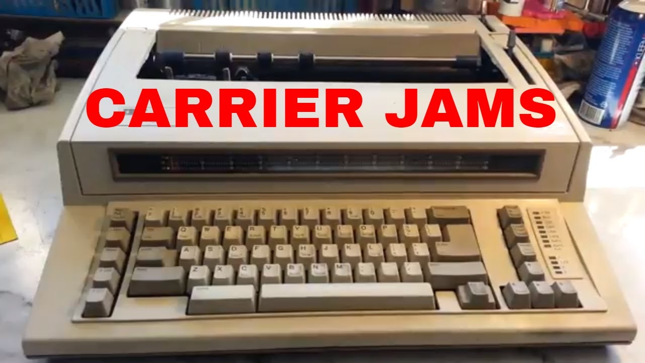 Ibm Wheelwriter Typewriter Repair Fix Carriage Carrier Sticks Margins Reset Makes Noise Youtube