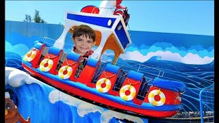 Fun Ride on Boat ! Row Row Your Boat  Song Nursery Rhymes For Kids