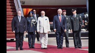 PM Narendra Modi arrives to a warm welcome in Jerusalem, Israel