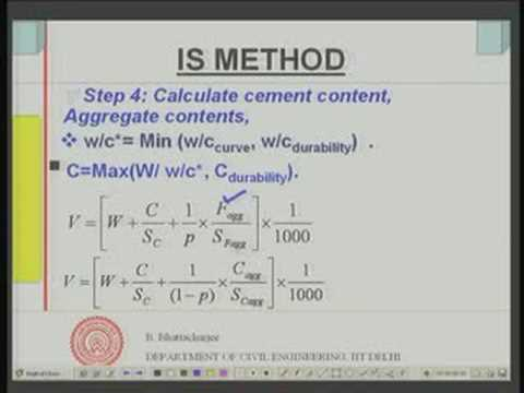 Module 9 Lecture -2 Mix Design Of concrete IS Method