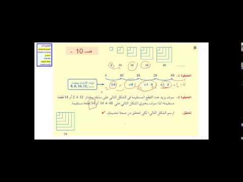 منظومة معرفة | مادة الرياضيات للصف الأول الثانوي | درس التبرير الاستقرائي التخمين 1