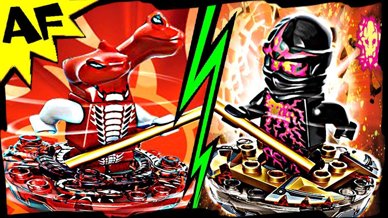 nrg cole vs fangdam lego ninjago spinjitzu battle amp stop