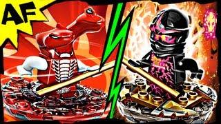 nrg cole vs fangdam lego ninjago spinjitzu battle stop motion set review 9571 9572
