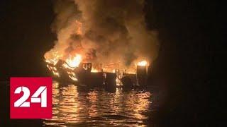 Смотреть видео Одной из жертв пожара на яхте в Калифорнии стала бывшая москвичка - Россия 24 онлайн