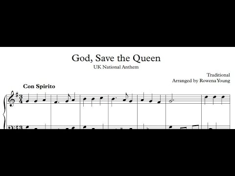 God Save The Queen, Anonymous - Piano arrangement