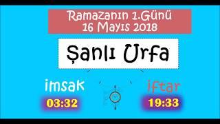 2018 Güney Doğu Anadolu Bölgesi İL İMSAK ve İFTAR Vakitleri (1.Gün - 16 MaYıs 2018