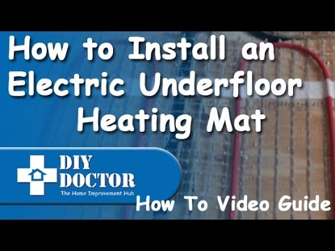 How to install an underfloor heating Devi mat including electrical connections
