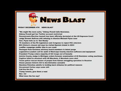 Friday, December 4, 2020 News Blast. #NBR #NewsBlastReadings #Enoch