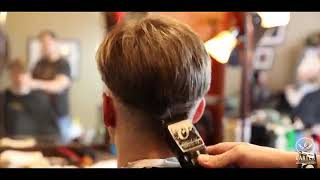 Modern side sweep hairstyle for men