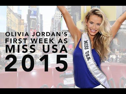 Olivia Jordan's First Week as Miss USA 2015