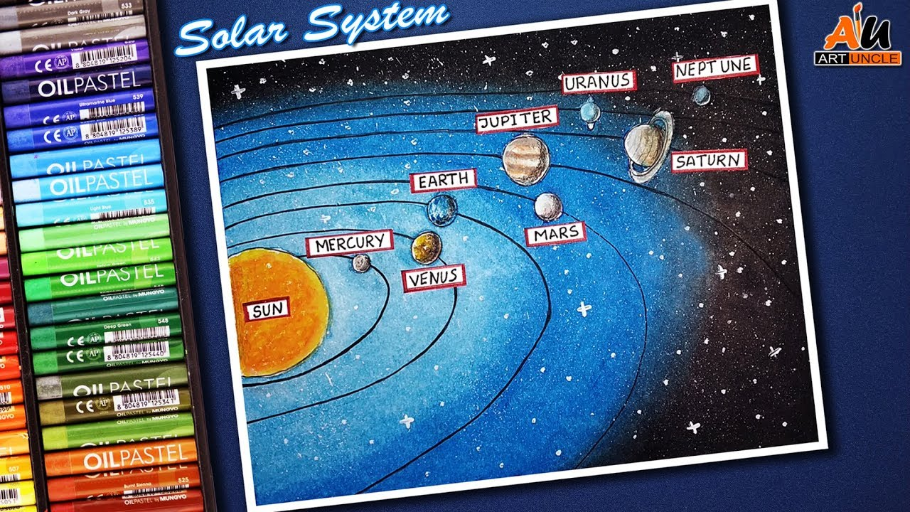 How To Draw Solar System For Kids Step By Step School Project Science Project Youtube