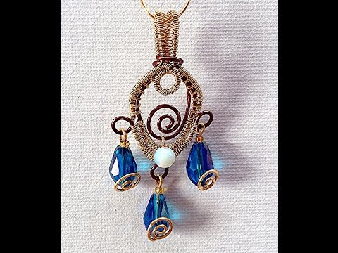 Wire Woven Peacock Feather Pendant Tutorial