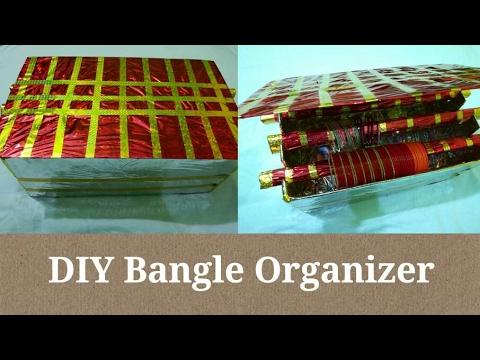 DIY Bangle Organizer in Hindi - Multipurpose Makeup and Accessories Organizer | Anupama Jha