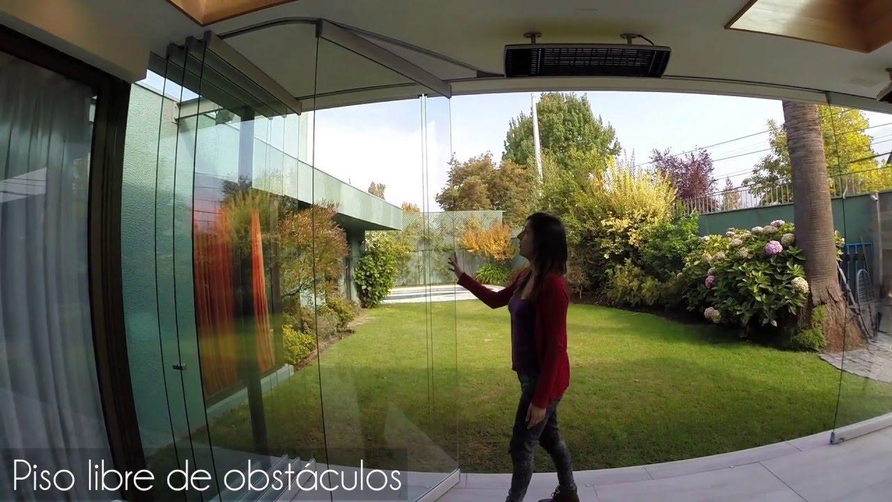Sistema para cierre de terrazas y quinchos sigma youtube for Modelos de techos para galerias