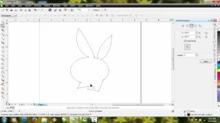 Corel draw ( cara membuat logo playboy sederhana)