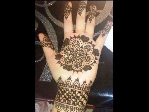 easy simple mehendi design for kids   simple floral henna