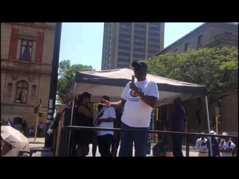 Zwelinzima Vavi lashes out at President Jacob Zuma during #BlackMonday protest in Pretoria