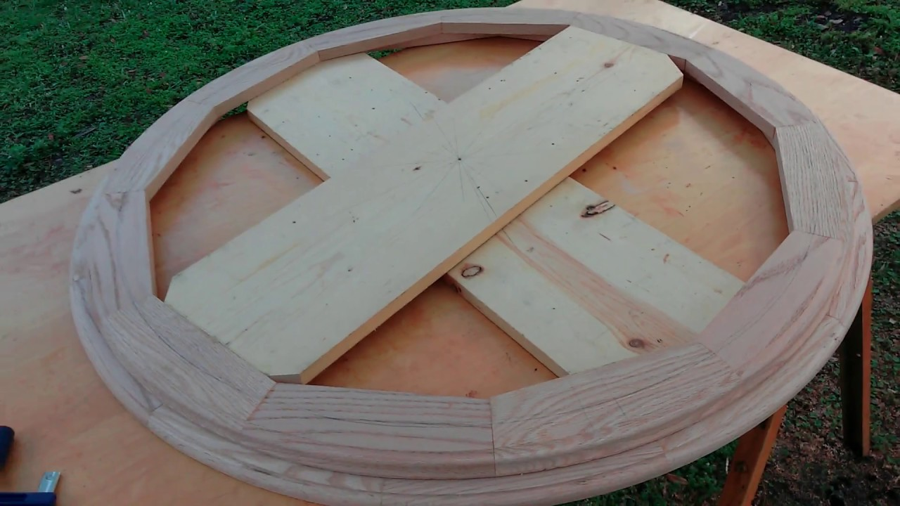 how to build a circular frame