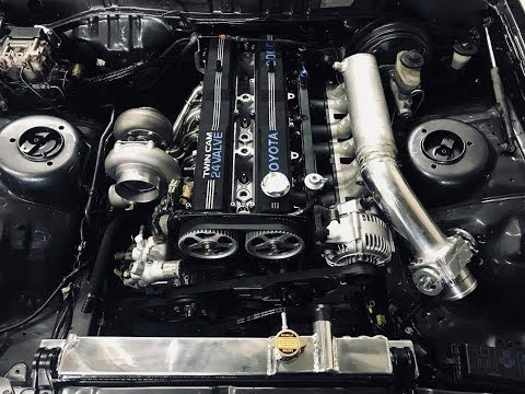 THE ENGINE IS IN!!!!! (BUILT 7MGTE)