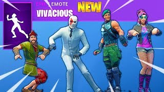 FORTNITE NEW VIVACIOUS EMOTE with ALL NEW Fortnite SKINS (Early Access, Leaked)