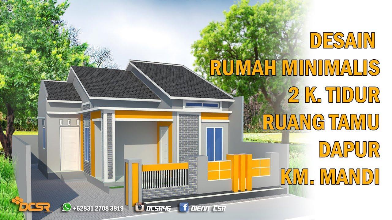 Desain Rumah Minimalis Ukuran 6 X 9 2 Kamar Tidur Youtube