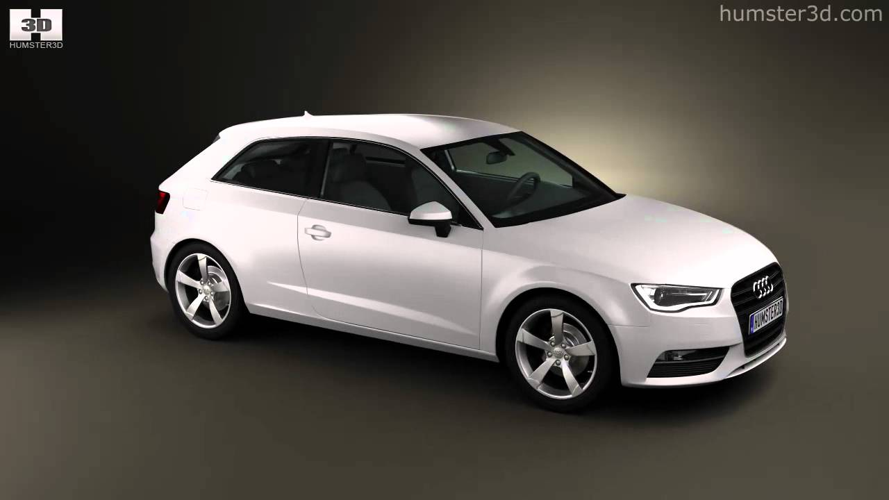 Audi A3 Hatchback 3-door 2013 By 3D Model Store Humster3D