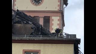Brand der evangelischen Kirche Hellenthal
