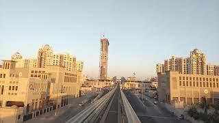 Mono rail 🚅,  plam  🌴 jumeirah , (u.a.e) Dubai 17/06/2018