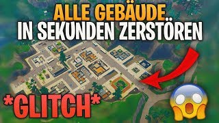 How to destroy ALL buildings in seconds! 😱 GLITCH! | Fortnite Battle Royale (English) | Detu