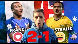 FRANCE 2-1 AUSTRALIE ! COUPE DU MONDE 2018 REACTION