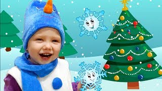 Snowflake   Snowman   Santa   Little Snowflake Song by Olivia Kids Tube