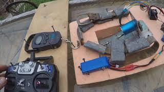 кораблик для риболовлі своїми руками частина 8 тест мотора BL 3650 1650KV з редуктором і без