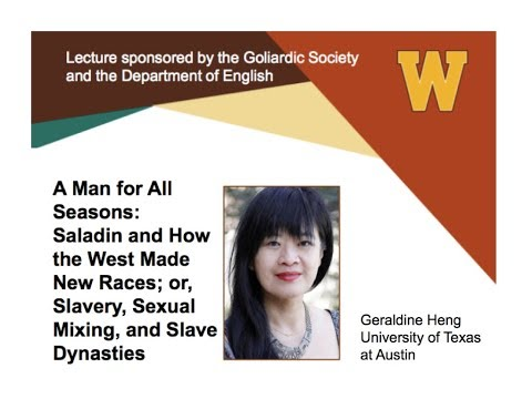 A Man for All Seasons | A lecture by Geraldine Heng