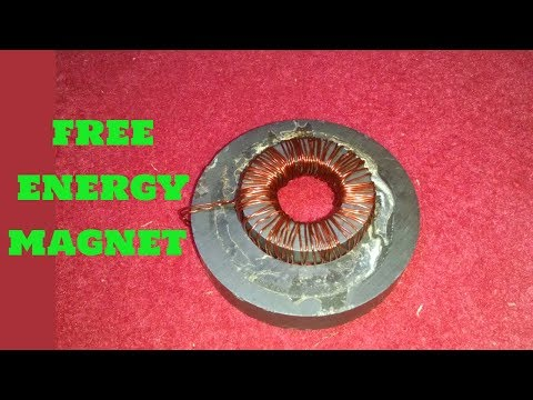 free energy magnet device used free energysource generator led lightbulb homemade diy project school