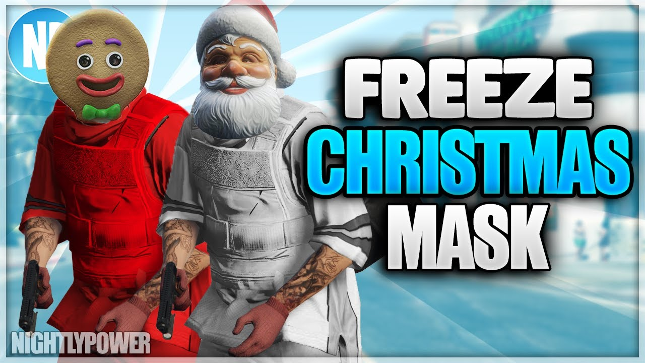 All Gta Christmas Masks.Solo Gta 5 Freeze Christmas Mask Director Mode Glitch